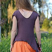 """Одежда ручной работы. Ярмарка Мастеров - ручная работа Топ """"Лесная фея"""" трикотажный коричневый. Handmade."""