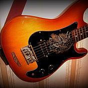 Музыкальные инструменты ручной работы. Ярмарка Мастеров - ручная работа Украшение гитары. Handmade.