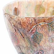 Для дома и интерьера handmade. Livemaster - original item Vase Luxury autumn. Flower vase. Glass vase. Vase decoupage.. Handmade.