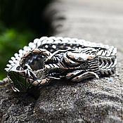 Украшения handmade. Livemaster - original item Bracelet with Dragon from jewelry steel unisex. Handmade.