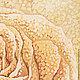 Батик картина Сахарная Роза.Панно батик. Желтый. Коричневый. Чувственный. Картины для спальни.. Картины для интерьера. Ручная работа купить. Триптих. Диптих. Свадебные подарки.  Подарок подруге.  Карт