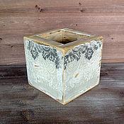 """Для дома и интерьера ручной работы. Ярмарка Мастеров - ручная работа Ящик/ коробка деревянная """"Ажур"""". Handmade."""
