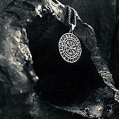 Украшения handmade. Livemaster - original item Pendant / Amulet of the Horror Helmet with Jewelry Steel. Handmade.