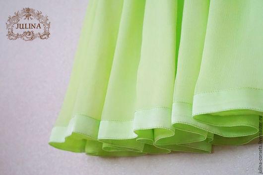 """Юбки ручной работы. Ярмарка Мастеров - ручная работа. Купить Юбка шелковая """"Дыхание лета"""" зеленая. Handmade. Зеленый"""