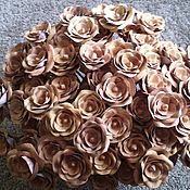 Цветы и флористика handmade. Livemaster - original item roses made of birch bark. Handmade.