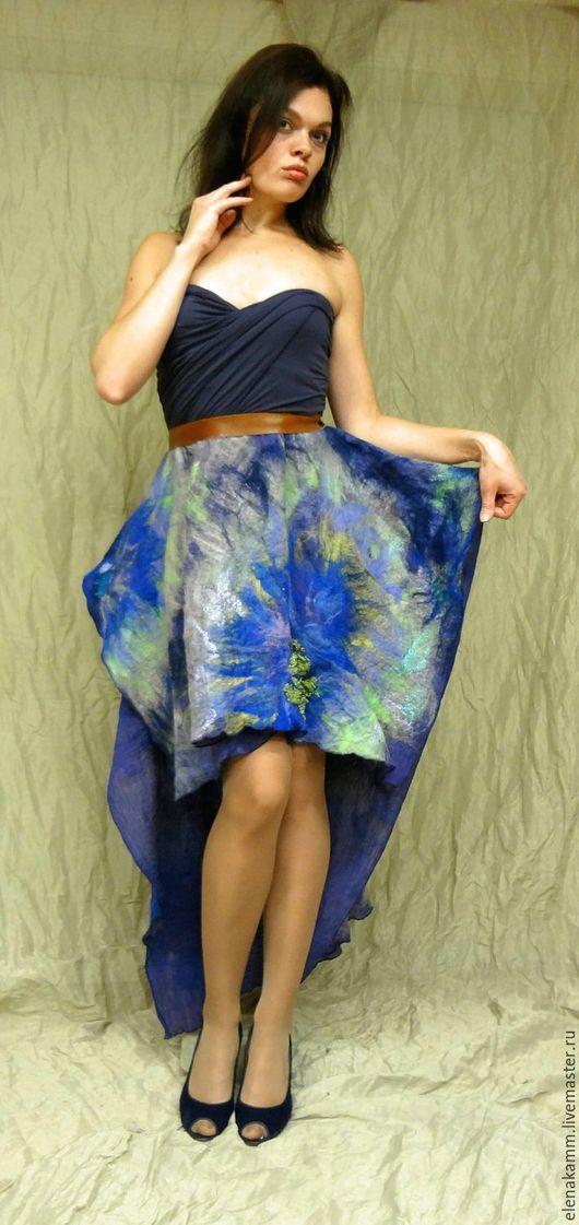 """Платья ручной работы. Ярмарка Мастеров - ручная работа. Купить Платье """"Фиолетово"""". Handmade. Разноцветный, нунофелтинг, яркое платье"""