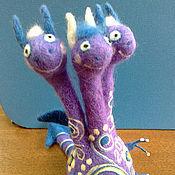 Куклы и игрушки ручной работы. Ярмарка Мастеров - ручная работа Валяный Дракон (в ассортименте). Handmade.