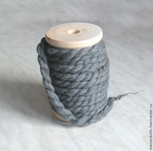 Вязание ручной работы. Ярмарка Мастеров - ручная работа. Купить Пряжа ручного прядения ГУЛЛИВЕР серый  толстая пряжа. Handmade.