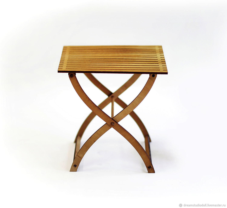 Складной стол для кукол №2. Форматы 1:6 (Барби), 1:4 МСД, 1:3 СД и др, Мебель для кукол, Санкт-Петербург,  Фото №1