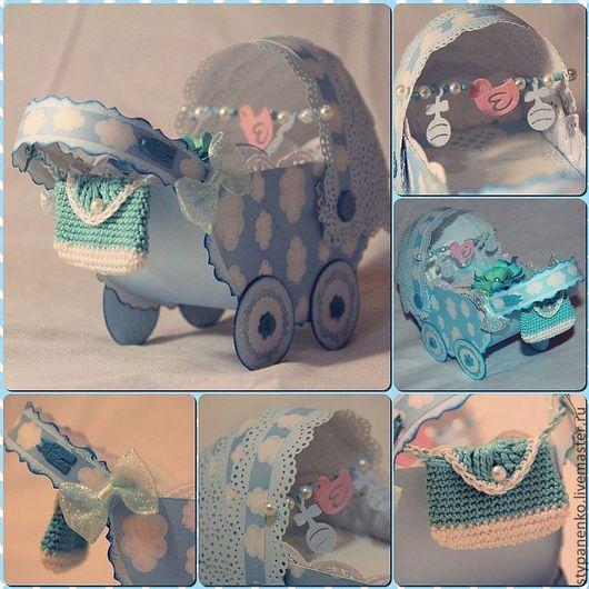 Подарки для новорожденных, ручной работы. Ярмарка Мастеров - ручная работа. Купить Коляска в миниатюре. Handmade. Коляска, Скрапбукинг, скрап материалы