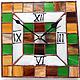 Часы для дома ручной работы. Ярмарка Мастеров - ручная работа. Купить Часики мозаика. Handmade. Витражная роспись, витражное стекло
