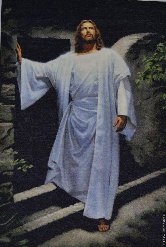 Иконы ручной работы. Ярмарка Мастеров - ручная работа. Купить Иисус. Воскресение.. Handmade. Иисус, храм, монастырь