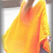 """Одежда ручной работы. Ярмарка Мастеров - ручная работа Пончо """"Оранжевая вспышка"""". Handmade."""