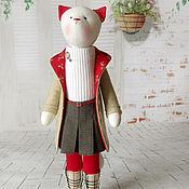 """Куклы и игрушки ручной работы. Ярмарка Мастеров - ручная работа Кошка """"Лондон, прощай, пора домой..."""". Handmade."""