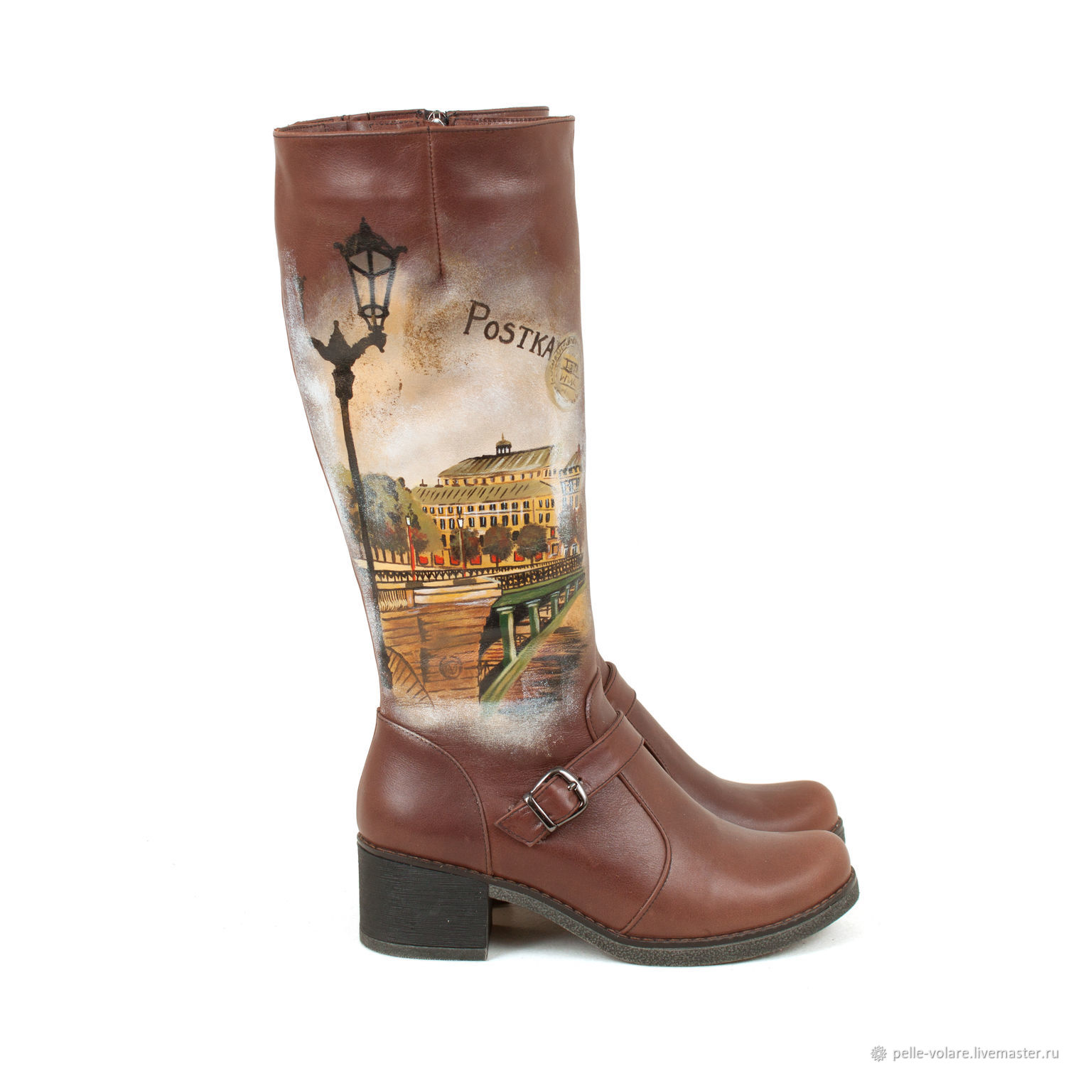 Women's boots 'Vintage, High Boots, St. Petersburg,  Фото №1