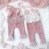Комбинезоны ручной работы. Ярмарка Мастеров - ручная работа Наряд для фотосессии новорожденной девочки Ruffle. Handmade.