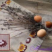 """Подарки к праздникам ручной работы. Ярмарка Мастеров - ручная работа Салфетка вышитая """"Курочки"""". Handmade."""