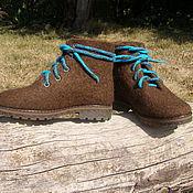 """Обувь ручной работы. Ярмарка Мастеров - ручная работа Ботинки валяные """"Ботинки:)"""". Handmade."""