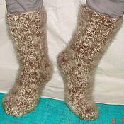 Аксессуары handmade. Livemaster - original item Warm socks knitted art. No. №27m of dog Pooh .. Handmade.