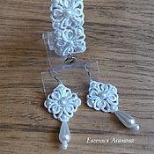 Свадебный салон ручной работы. Ярмарка Мастеров - ручная работа Свадебный комплект украшений. Handmade.
