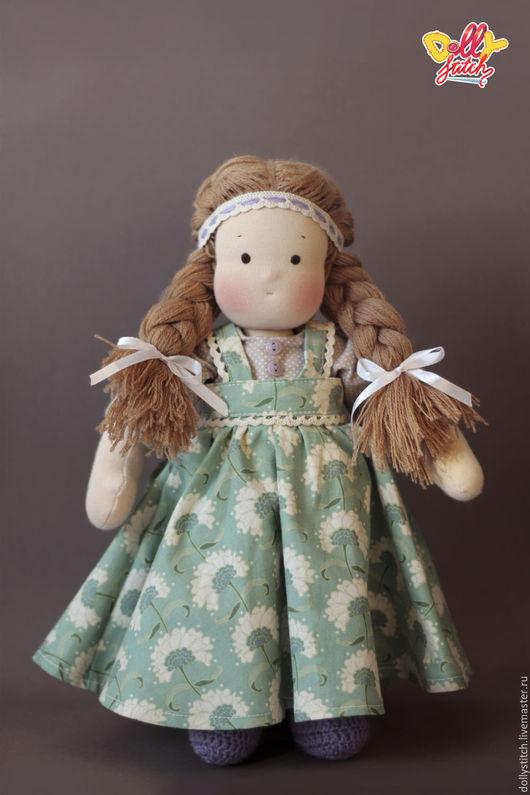 Вальдорфская игрушка ручной работы. Ярмарка Мастеров - ручная работа. Купить Вальдорфская кукла Катюша. Handmade. Салатовый, текстильная кукла