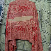 Винтаж handmade. Livemaster - original item stole with tassels Giada,100% wool Germany. Handmade.