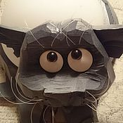 """Для дома и интерьера ручной работы. Ярмарка Мастеров - ручная работа """"Котейко шаловливый"""" - светильник-бра. Handmade."""