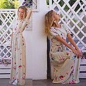 Платье в пол Лето - платье длинное вискоза 100%