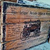 Картины и панно ручной работы. Ярмарка Мастеров - ручная работа Панно деревянное 30х40 состаренное Ретро-авто-5. Handmade.