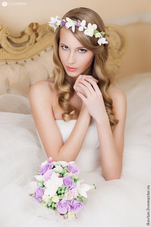 """Свадебные цветы ручной работы. Ярмарка Мастеров - ручная работа. Купить Букет для невесты  """"Совершенство мая"""". Handmade. Сиреневый, белый"""