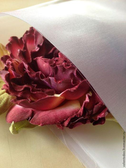 Другие виды рукоделия ручной работы. Ярмарка Мастеров - ручная работа. Купить Ткань для цветоделия- Фезасатин(перо сатин). Handmade. Белый