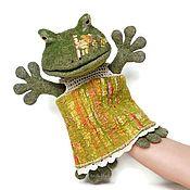 Puppet show handmade. Livemaster - original item Frog, glove doll, hand toy, puppet theater. Handmade.