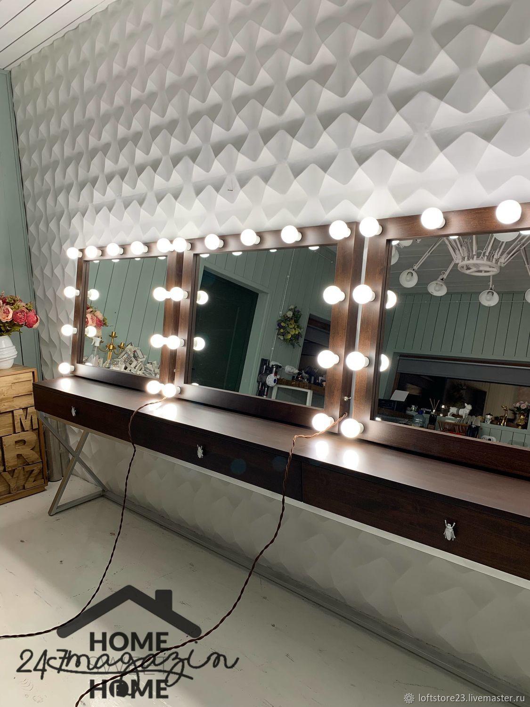 Dark WALNUT makeup mirror, Mirror, Yaroslavl,  Фото №1