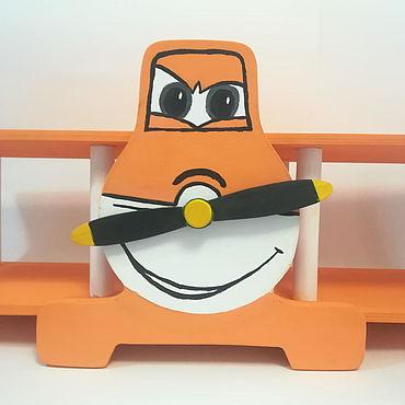 """Мебель ручной работы. Ярмарка Мастеров - ручная работа Полка """"Самолет"""" для детской комнаты. Handmade."""