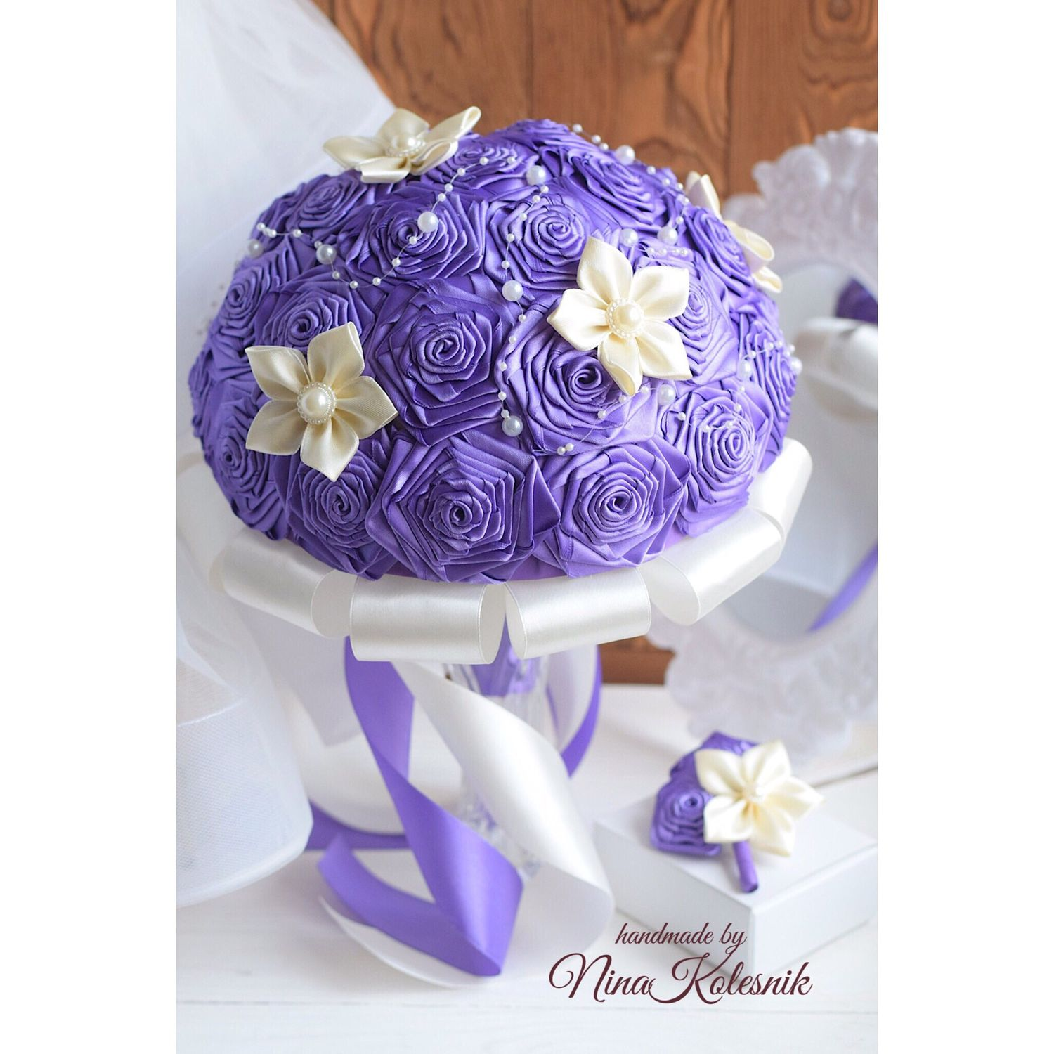Wedding brooch bouquet bridal bouquet with ribbons shop online on buy wedding brooch bouquet bridal bouquet with ribbons izmirmasajfo
