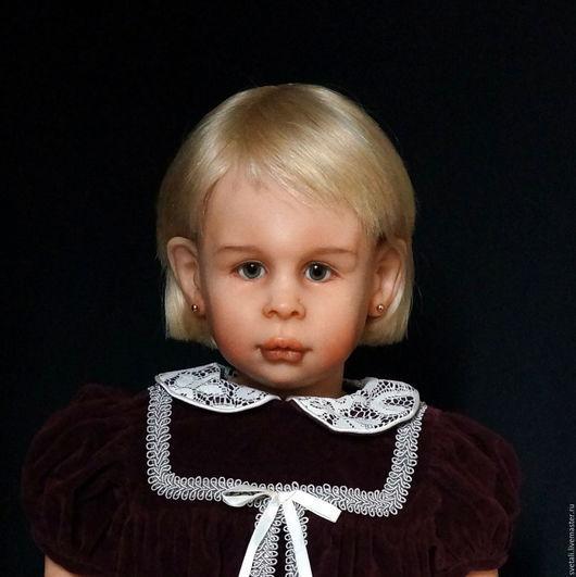 Коллекционные куклы ручной работы. Ярмарка Мастеров - ручная работа. Купить ЕВА  65 СМ. Handmade. Бордовый, светлана гришко