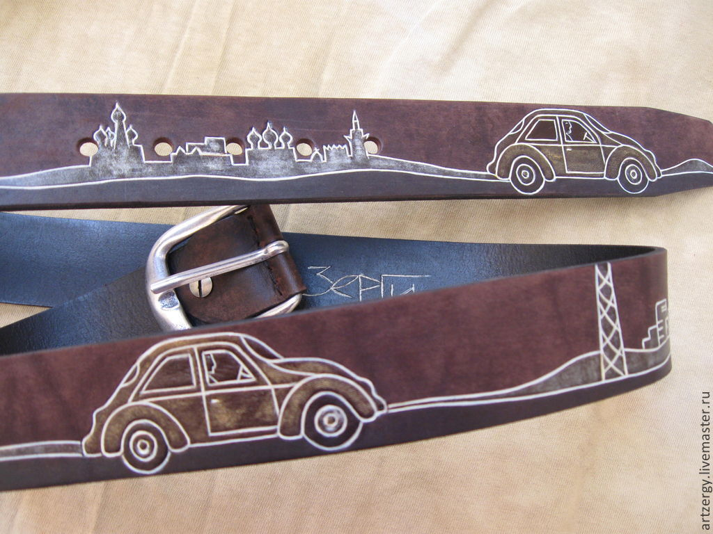 MOSCOW 'BUGS' strap leather, Straps, Moscow,  Фото №1