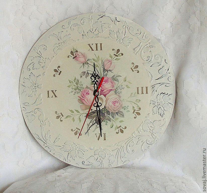 Часы в стиле шебби шик купить механизм старинных часов купить