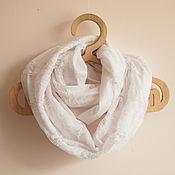 """Аксессуары ручной работы. Ярмарка Мастеров - ручная работа Весенний женский шарф """"Белый гипюр"""". Handmade."""