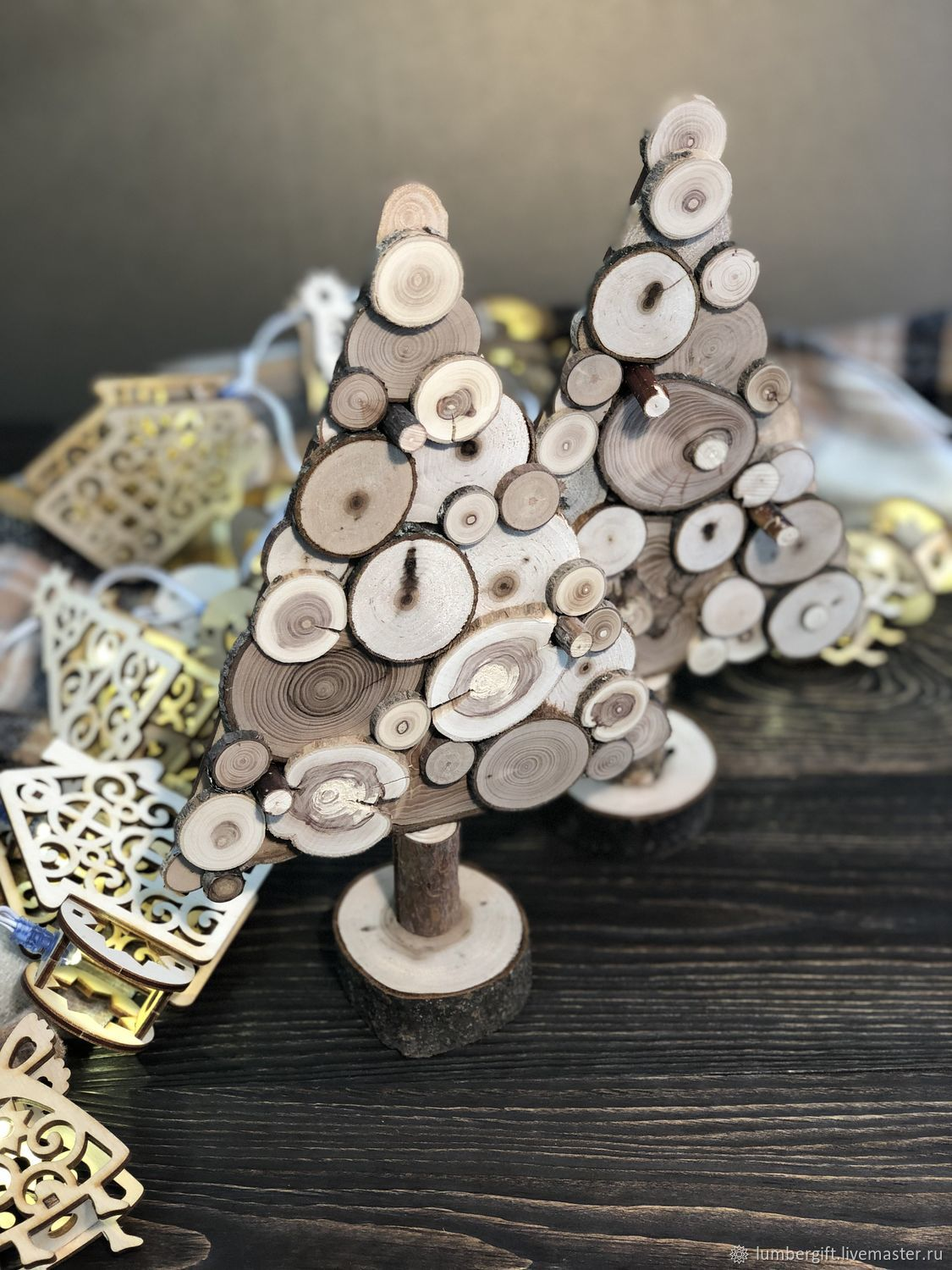 a Christmas tree made from small slices, Tree, Moscow,  Фото №1