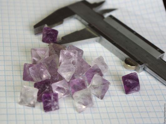 Для украшений ручной работы. Ярмарка Мастеров - ручная работа. Купить Флюорит кристаллы 15-16мм. Handmade. Фиолетовый