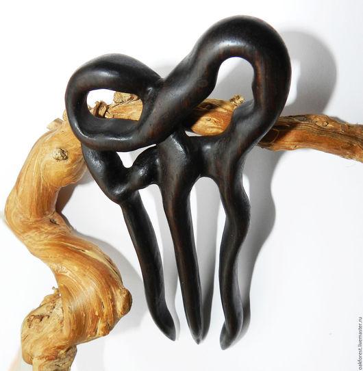 """Заколки ручной работы. Ярмарка Мастеров - ручная работа. Купить Заколка для волос из дерева """"Горький шоколад"""" (палисандр). Handmade. палисандр"""