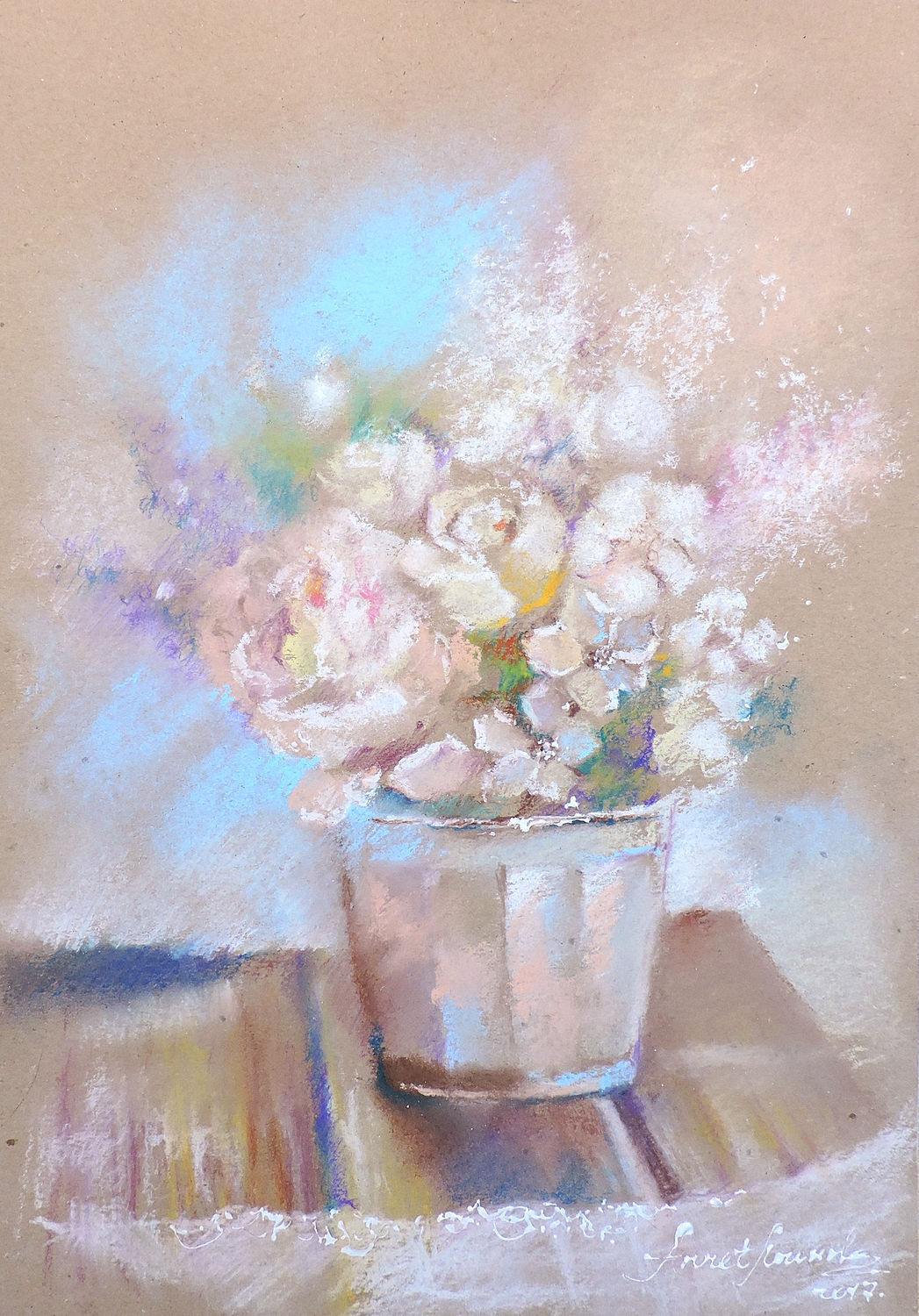 Caramel morning - painting with pastels, Pictures, Moscow,  Фото №1