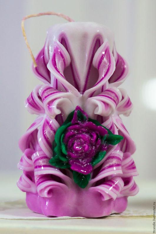 Свечи ручной работы. Ярмарка Мастеров - ручная работа. Купить Горящий цветок. Handmade. Нежность романтика стиль, подарок женщине