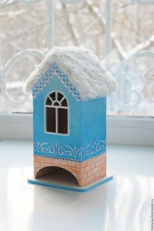 Кухня ручной работы. Ярмарка Мастеров - ручная работа. Купить Чайный домик с меховой крышей.. Handmade. Голубой