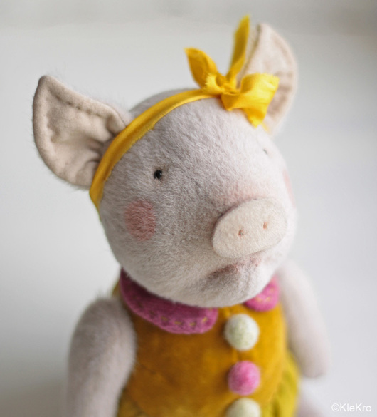 Мишки Тедди ручной работы. Ярмарка Мастеров - ручная работа. Купить Поросенок Аллочка. Handmade. Молочный, свинка. Клетчатый Крокодил.