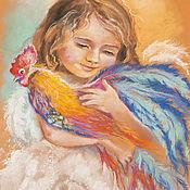 Картины и панно ручной работы. Ярмарка Мастеров - ручная работа Картина пастелью Ангел и птица. Handmade.