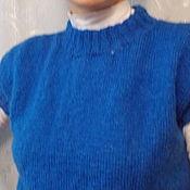 """Одежда ручной работы. Ярмарка Мастеров - ручная работа Жилет мохеровый """"Лазурь"""". Handmade."""