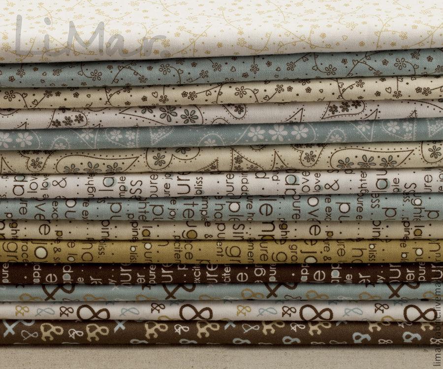 ручной работы. Ярмарка Мастеров - ручная работа. Купить Ткань 'Pure...', 14 видов. Handmade. Ткань для пэчворка