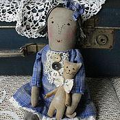 Куклы и игрушки ручной работы. Ярмарка Мастеров - ручная работа Кукла Дуся и ее кот Вася.. Handmade.